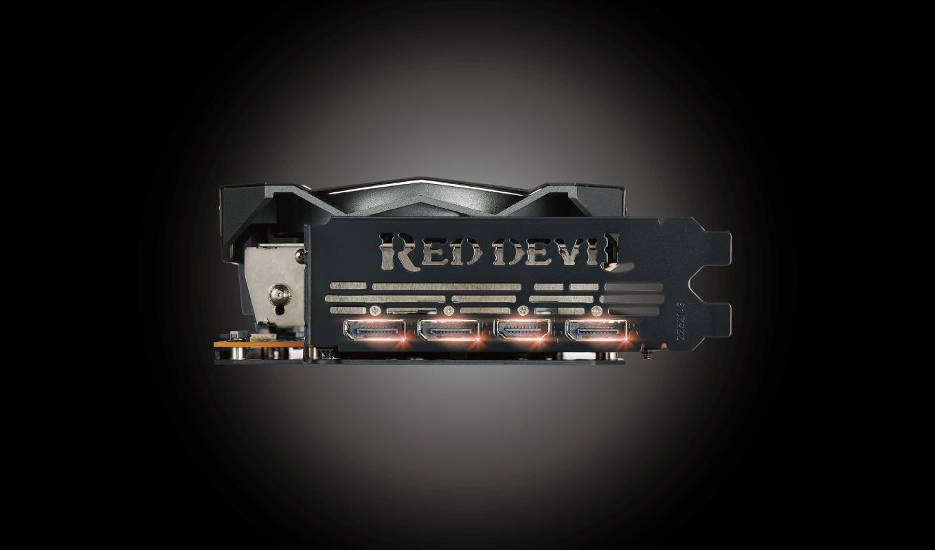 PowerColor Red Devil AXRX 5700 8GBD6-3DHE/OC - Порты подключения дисплеев